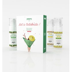 Coffret huiles de massage Let's Celebrate EXSENS